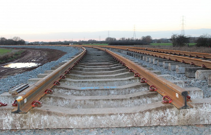 Installation of the P-Way Track at East Midlands Gateway